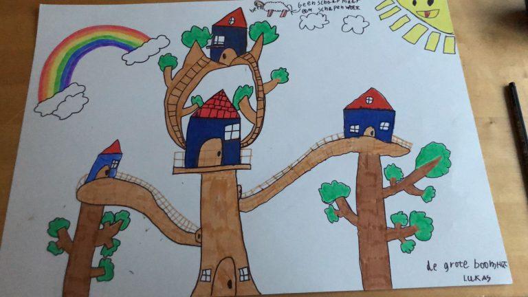 De boomhut van Lukas